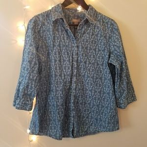 Chico's Chambray Button Down